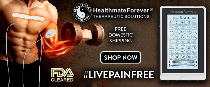 HealthmateForever, lifestyle image, unit, model arm, fda cleared, free domestic shipping,