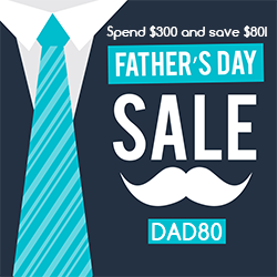 Need a great gift for Father's Day? HealthmateForever can help you out! Right now use offer code DAD80 to save $80 when you spend $300 or more.