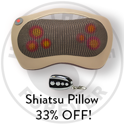 We created the perfect pillow for when you're on the road! Right now you can save 33% on the amazing and portable Shiatsu!