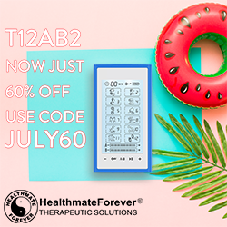 Need a new TENS UNIT this Summer? Look no futher! During the month of July, HealthmateForever is offering a 60% discount for the T12AB2. Use coupon code JULY60.