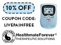 10% OFF Your HealthmateForever Order with Coupon Code: LIVEPAINFREE