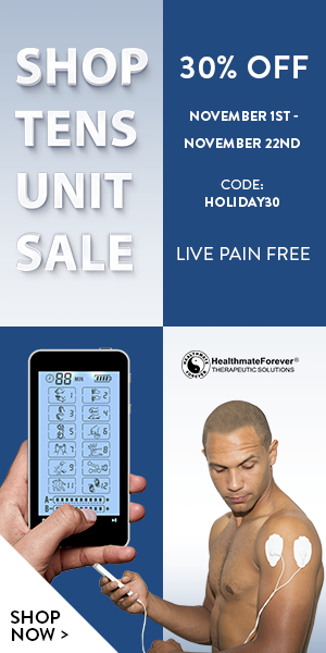 Save 30% on ALL TENS/EMS Units with Coupon Code: HOLIDAY30