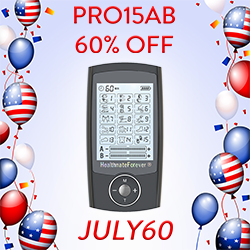 Celebrate the 4th of July with a new TENS Unit. Get our amazing PRO15AB for 60% off during the entire month of July.