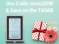 Right now, if you use coupon code mom2018, you can save 50% on one of our most popular TENS Touch Screens: the T40AB!