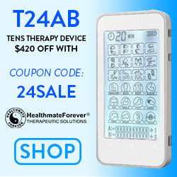 Grab the T24AB TENS Therapy Device for Muscle Recovery & Pain Relief 75% OFF its regular price with Coupon Code: 24SALE