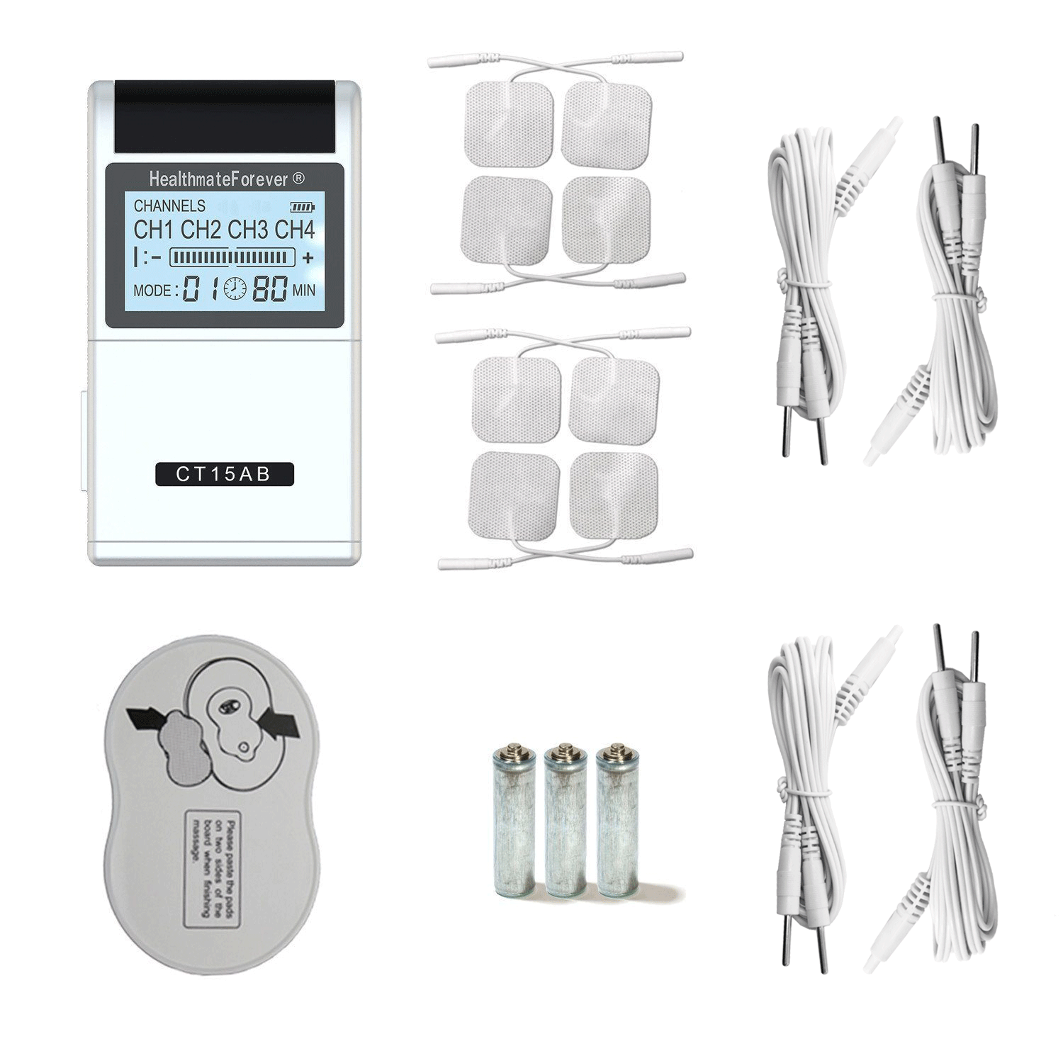 CT15AB HealthmateForever TENS Unit & Muscle Stimulator