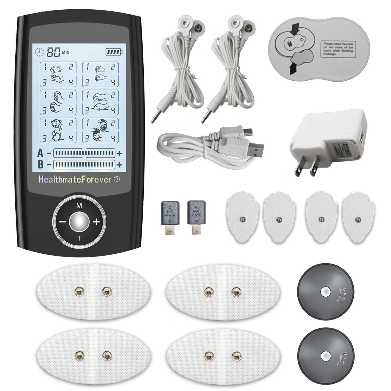 PRO6ABS 2nd Edition HealthmateForever Wireless TENS Unit & Muscle Stimulator