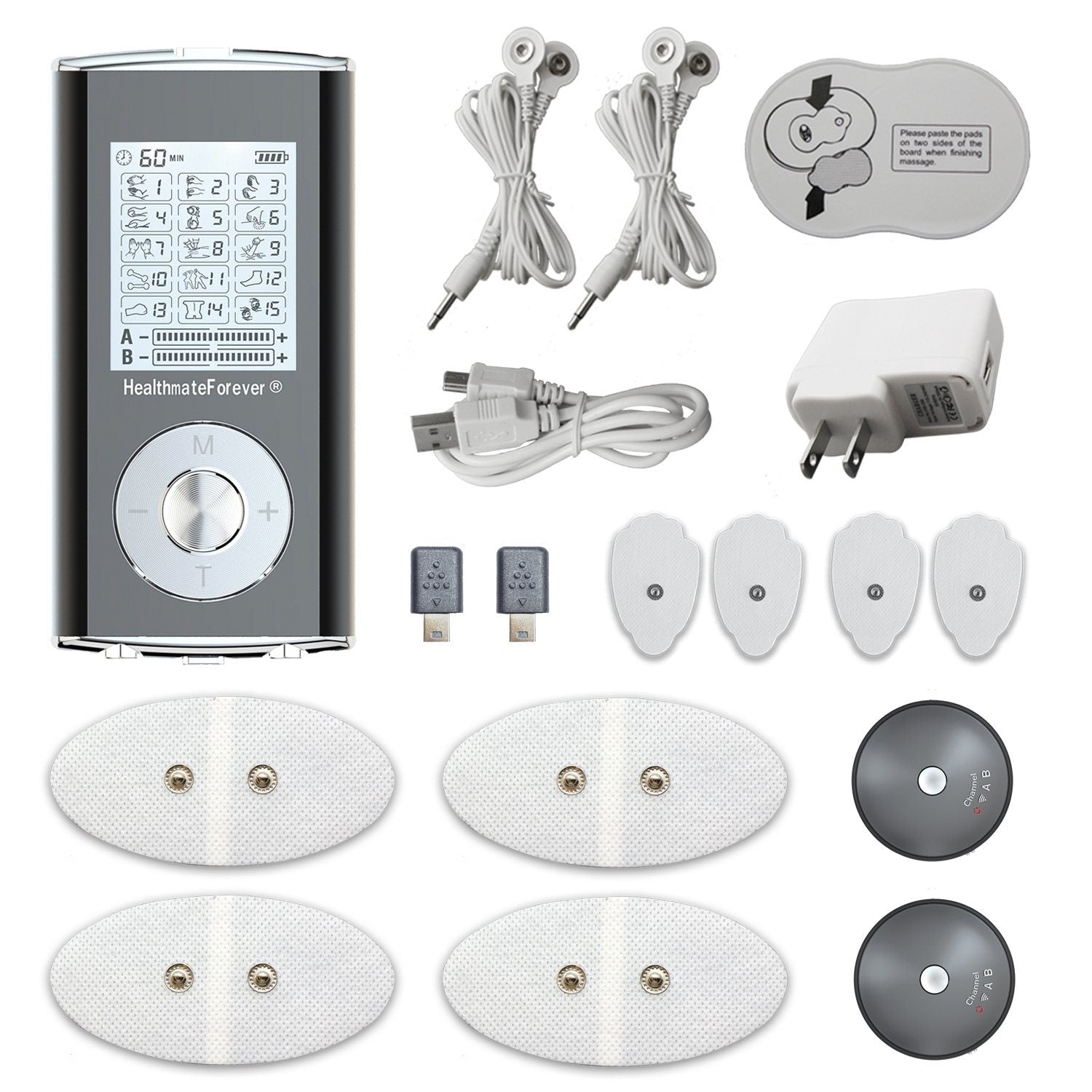 HM15GAB HealthmateForever Wireless TENS unit & Muscle Stimulator