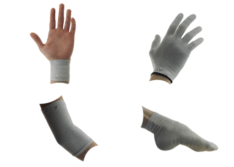 Conductive Silver Garment (Wrist/Ankle, Glove, Knee / Elbow, Socks in pair)