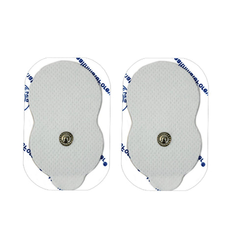 FLASH SALE Pair of Snap-On White Large Gourd-Shaped Pads