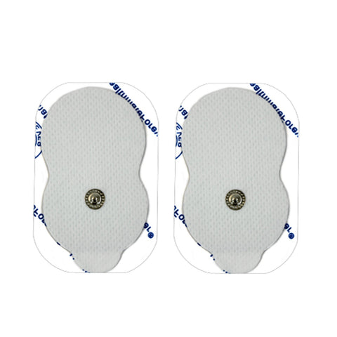 Pair of Snap-On White Large Gourd-Shaped Pads