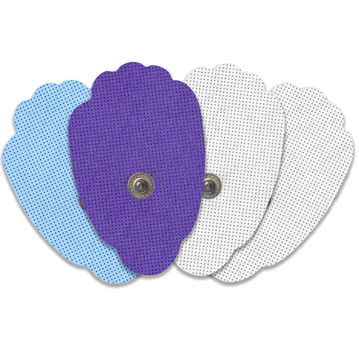 Multi-Color Snap-on Hand-Shaped Replacement Electrode Pads Combo