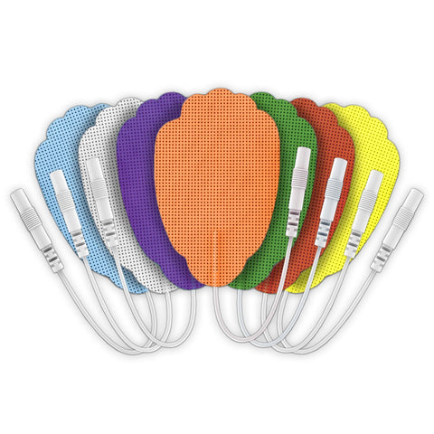 Multi-Color Pin-Inserted Hand-Shaped Replacement Electrode Pads Combo