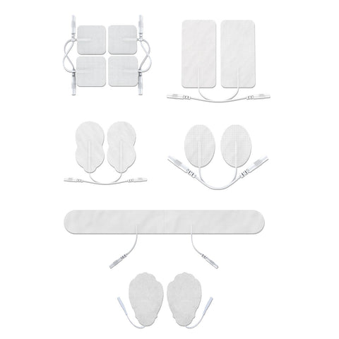 Assorted White Pin-Inserted Replacement Electrode Pads Combo