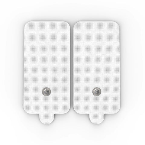 Pair of Snap-On White Large Rectangle-Shaped Pads