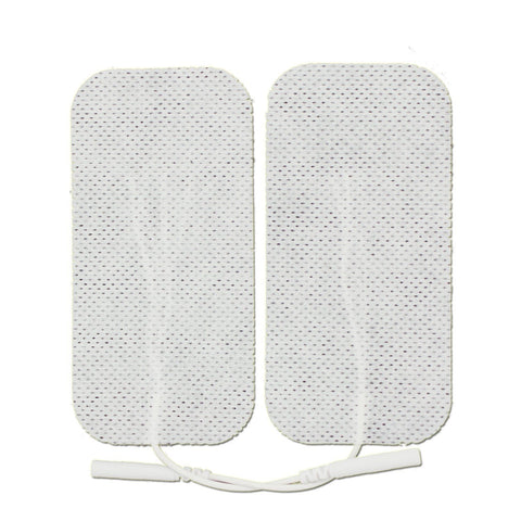 Pin-Inserted White Large Rectangle-Shaped Pads for TENS units Muscle Stimulators