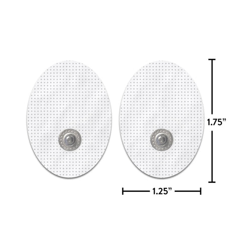 Pair of Snap-on White Small Oval-Shaped Pads