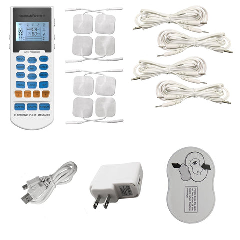 YK15RC and Accessories-HealthmateForever TENS Unit & Muscle Stimulator