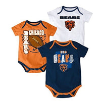 NFL Infant Boy's Beat The Spread Bodysuit Set of 3 Football Baby Creepers