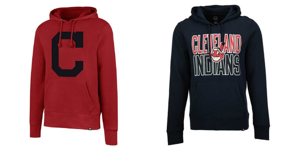 MLB Cleveland Indians Men's Hoodie Baseball Team Hooded Pullover Sweatshirt