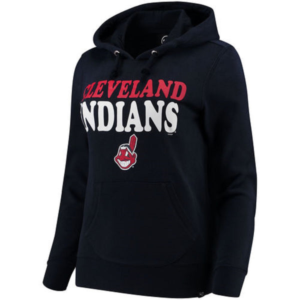 Women's Cleveland Indians Power Alley Hoodie MLB Baseball Hooded Sweatshirt NEW