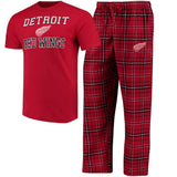 NHL Men's Halftime Sleep Set Tee Shirt Pants Lounge Pajamas Licensed Hockey NEW