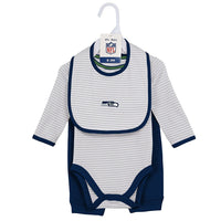 NFL Infant Boy's Interception Pant Set with Creeper & Bib 3-Piece Baby Football