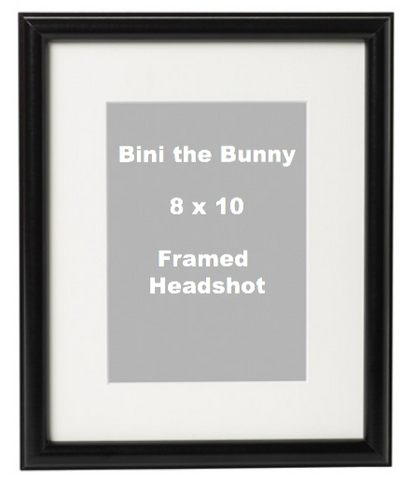 Headshot Photo with Logo (Framed or Unframed)
