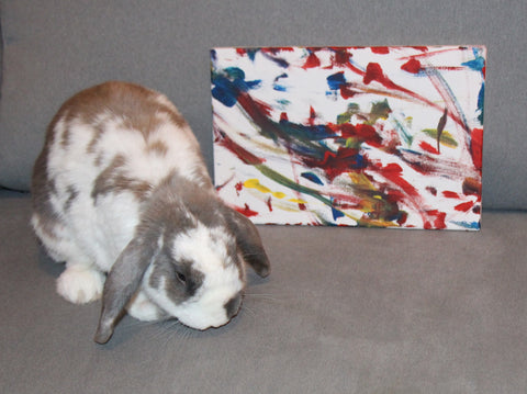 Unframed Medium Bini the Bunny Original Painting