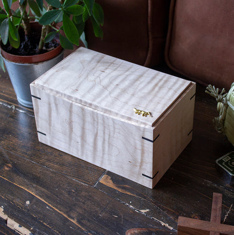 Tiger Maple Storage Box
