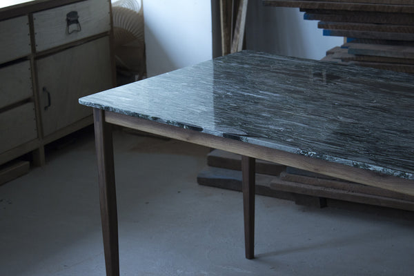 Marble x Walnut Table