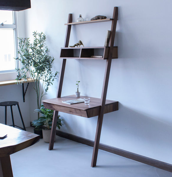 ladder shelf desk twenty one from eight rh xn 4gq26f5zqotv myshopify com Ladder Bookcase with Desk Rustic Desk with Shelves Ladder