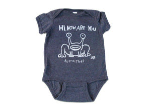 Hi How Are You Onesie by Austin Blanks