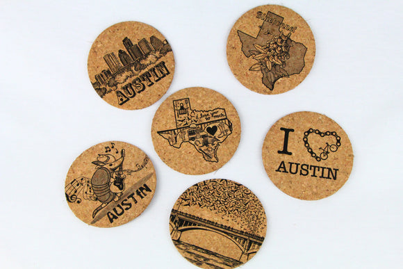 Austin Coasters Set of 6