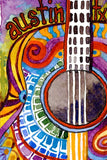 "Connie Adcock Art ""Austin Guitar"""