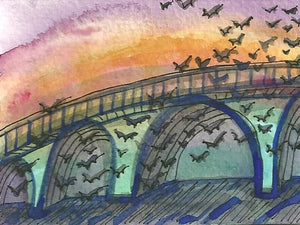 "Connie Adcock Art ""Austin Bats"""