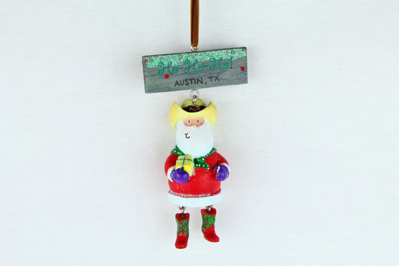 Dangling Legs Santa Ornament