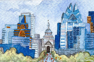 "Connie Adcock Art ""Downtown Austin"""