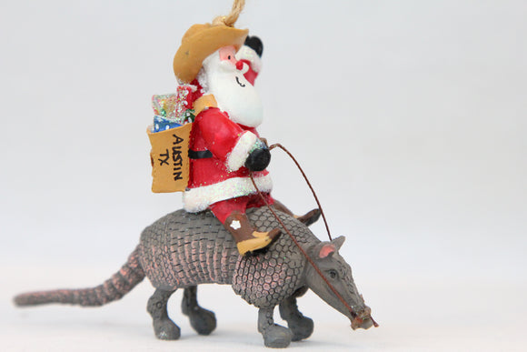 Armadillo Santa Ornament