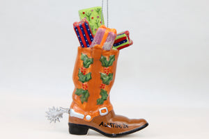 Austin Christmas Cowboy Boot Ornament