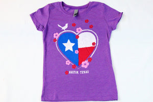 Kids Texas Heart Tee