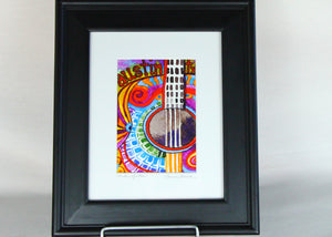"Connie Adcock Water Color ""Austin Guitar"""