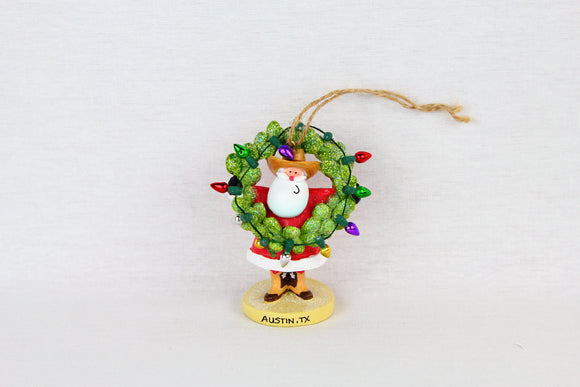 Santa with Wreath Ornament