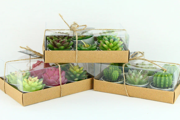 Succulent Tea Light Candles