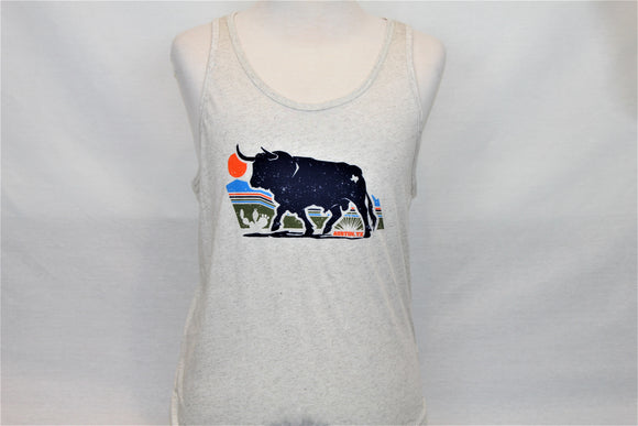 Texas Sunset Bull Tank Top