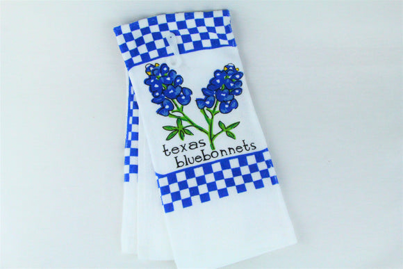 Blue Bonnet Dish towel