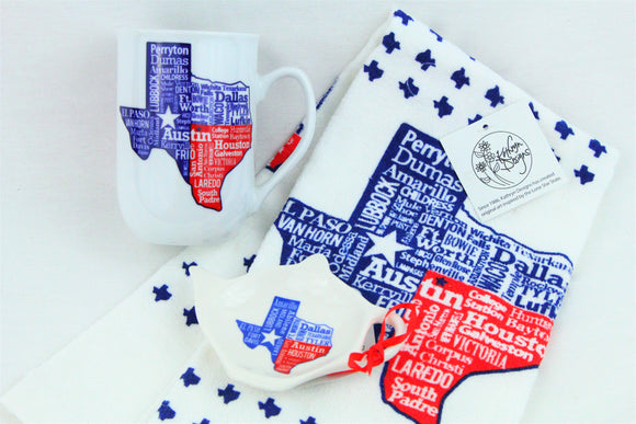 Texas Cities Gift Set
