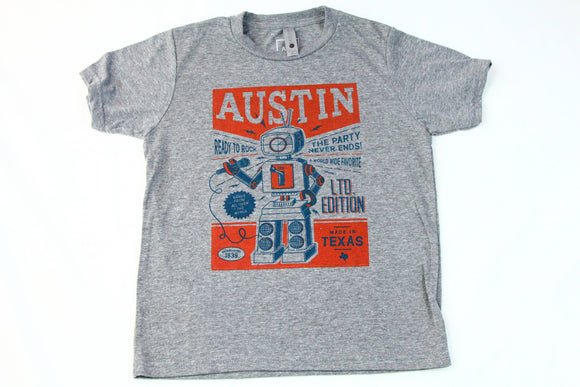 Austin Robot Kids Tee by Austin Blanks