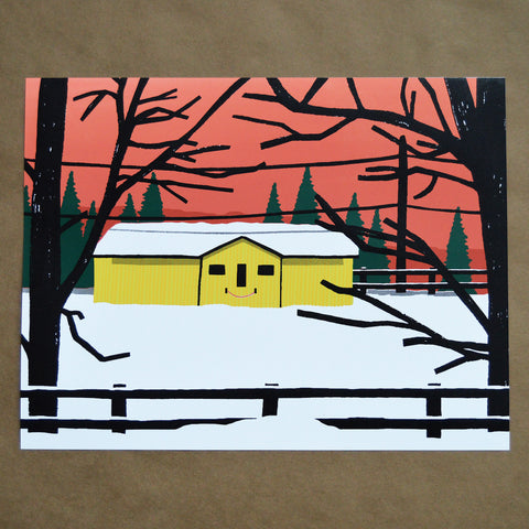 That Barn Is Smiling Print