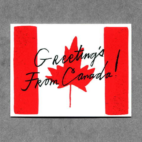 Greetings From Canada Card